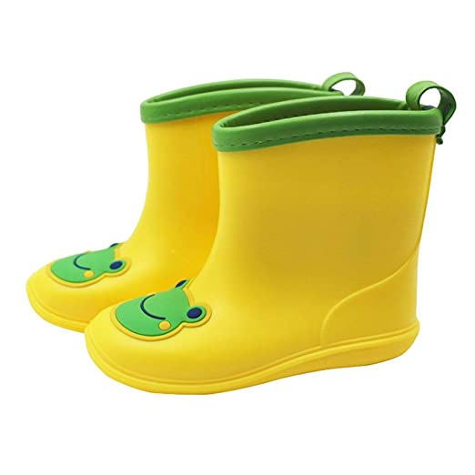 bd86351cca0d0 Vine Toddler Rain Boots Babys Rain Boots Children Waterproof Shoes for Boys  Girls 4.5 US Toddler