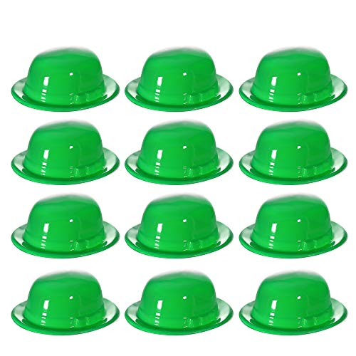 Green St. Patricks Day Costume Derby Hats - 12 Pack