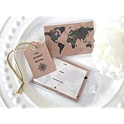 50 World Map Kraft Luggage Tags $1.25 ea.