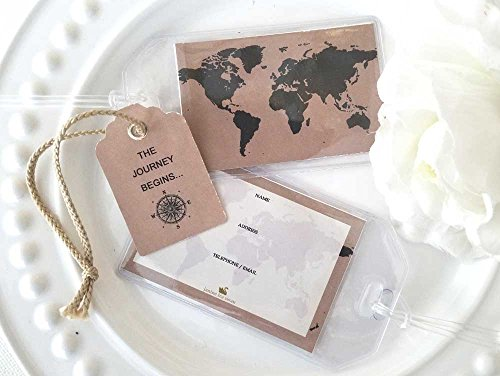 50 World Map Kraft Luggage Tags $1.25 ea.]()