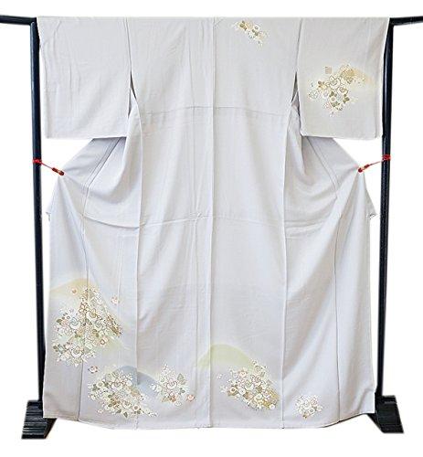 博多着物市場 きものしらゆり 新品 裄68.2cm ロング寸 L 極上丹後ちりめん 高級 訪問着 正絹 仕立て上り 身長157cm~165cmの方に最適
