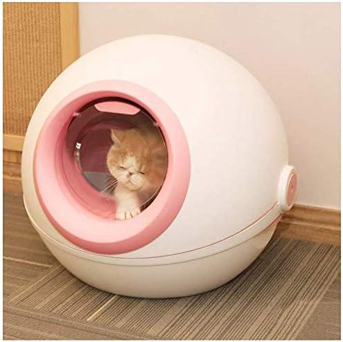 ZY Perro de la litera del Gato tazón Caja Totalmente Cerrado Solapa Grande Anti-Salpicaduras for desodorizar los Gatos 21 X 20 X 15.1 (Color: Gris) LOLDF1 (Color : Pink): Amazon.es: Hogar