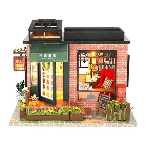 Gbell  Fairy House Puzzle,3D Wooden Villa Model Toys DIY Hand Craft Make Puzzle Miniature House Furniture with LED Perfect DIY Gift for Baby Boy Baby Girls ()