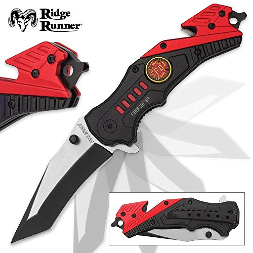 Ridge Runner Firefighter Everyday Carry Assisted Opening Tanto Pocket Knife