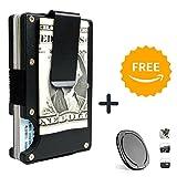 Rfid Blocking Metal Wallet Money Clip Card Holder + Free Phone Ring