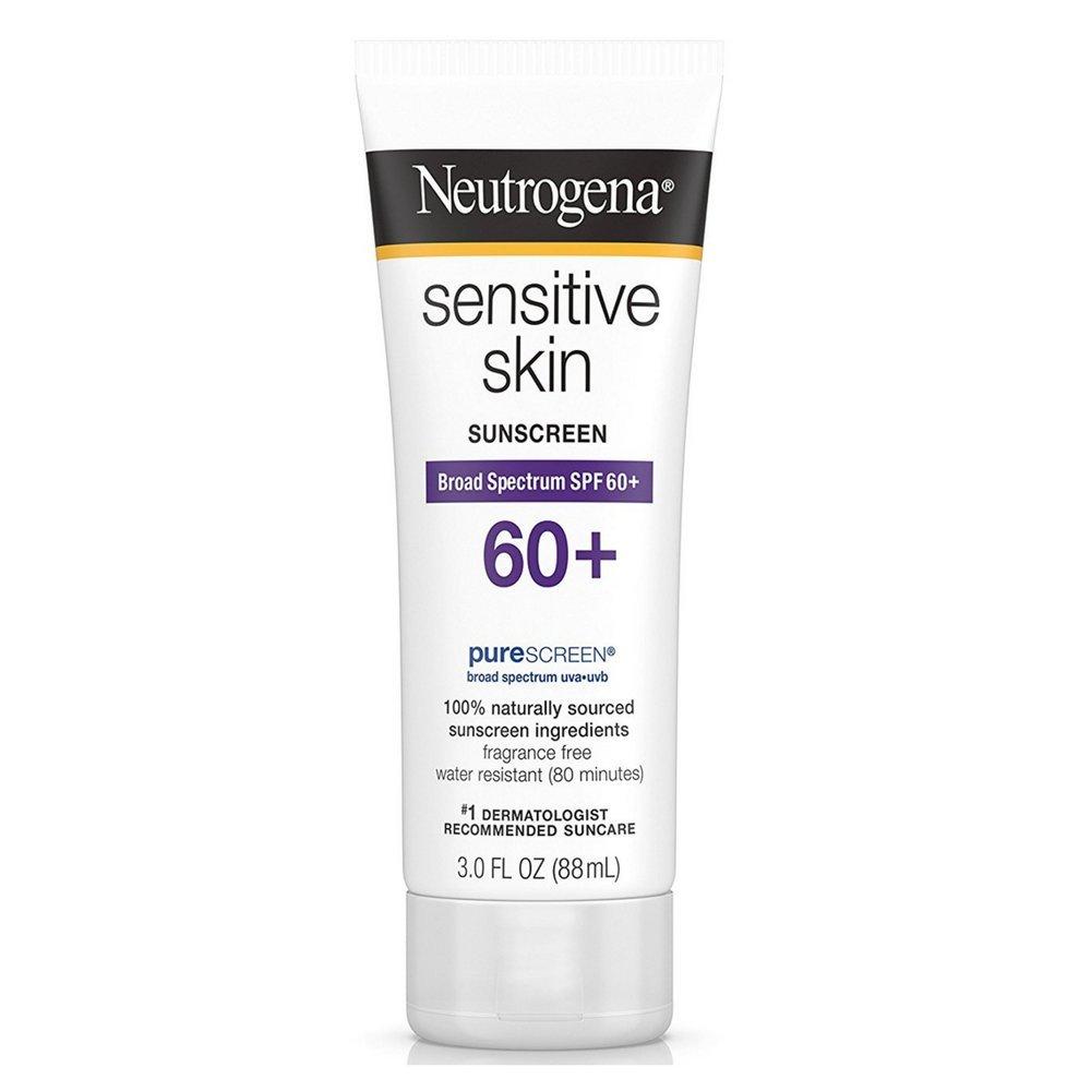 Neutrogena Sensitive Skin Spf#60+ Sunscreen Lotion 3oz (2 Pack)