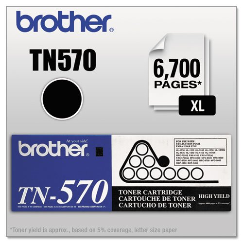 Original Brother TN-570 (TN570) 6700 Yield Black Toner Cartridge - Retail - Tn 570 Brother Toner