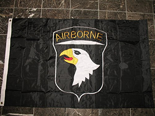 Embroidered Double Sided 2Ply Nylon Black Airborne 101St Division 3X5 Flag For Sale