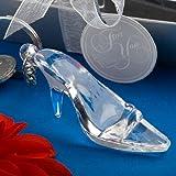 Enchanting Cinderella Shoe Acrylic Keychain Favor