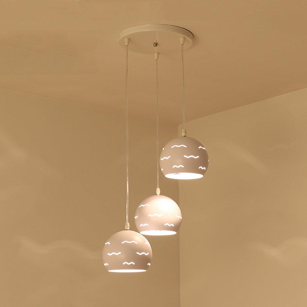 シーリングライト ペンダントランプモダンミニマリストスリーヘッドLEDシャンデリアリビングルームダイニングルームベッドルームバルコニーライト [エネルギークラスA ++] (Color : White light, Edition : A) A White light B07T4XM875