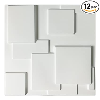 Fine Art3D Decorative Tiles 3D Wall Panels For Modern Wall Decor White 12 Panels 32 Sq Ft Download Free Architecture Designs Salvmadebymaigaardcom