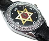 Happy New Year Gifts USFS082 New Leather 118 Diamond Crystal Watch / Jewess Judaism