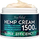 Hemp Pain Relief Cream (1500 Mg) - Natural Hemp Extract Cream for Arthritis, Back Pain & Muscle Pain Relief - Efficient Inflammation Cream & Carpal Tunnel Relief - Made in USA - Good for Skin Health.