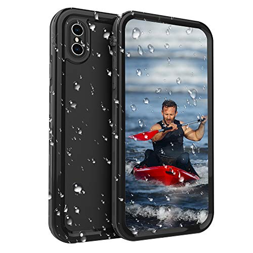 iPhone Xs Max Waterproof Case for iPhone Xs Max Underwater Cover Full Body Heavy Duty Protective Carrying Slim Case Shockproof IP68 Waterproof Case Compatible iPhone Xs Max-Black