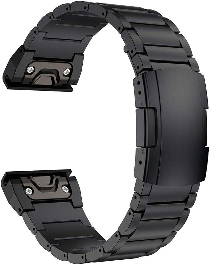malla de metal garmin Fenix 6X/5X Plus, negra