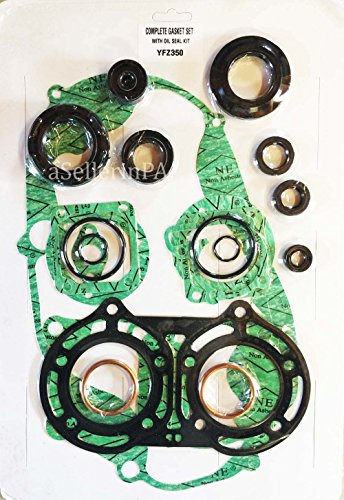 [Complete Gasket & Oil Seal Kit Top and Bottom End Set YAMAHA BANSHEE 350 1987-2006] (Complete Gasket Set Part)