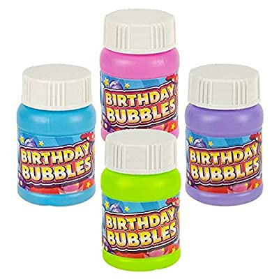 Rhode Island Novelty 1oz. Birthday Bubbles, 24 Pack in Assorted Colors: Toys & Games