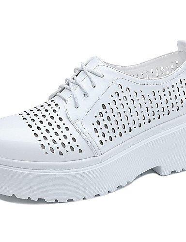 Bianco Bianco Scarpe us5 Eu36 da Nero donna Heel da Uk3 Trendy lavoro Vestiti Ufficio Comfort Sintetico 5 casual e Cn35 Scarpe Njx Hug 5 tennis Flat HwRx5qnv