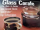 Black and Decker Spacemaker Coffee Maker Black & Decker Glass Carafe 3355D ... fits Black & Decker and General Electric Spacemaker Drip Coffeemakers