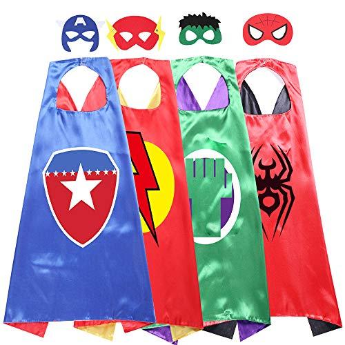Kids Cartoon Superhero Capes Dressing Up Costume