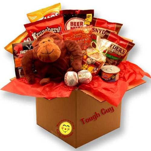 Masculine Munchies! Fun Snack Gift Basket for Men