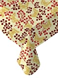Ritz PEVA Red Butterfly Print Table Cloth, 60-Inch by 102-Inch