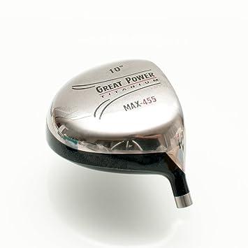 Gran potencia max-455 componente de titanio cabeza de palo ...