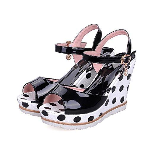 2018 Regalo de San Valentín 2018 Tacones Sandalias de Hebilla Suelas de Goma Resistentes Al Desgaste Sandalias Zapatos de Mujer Solo Zapatos Azul talla43 5