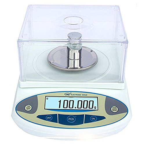 BAOSHISHAN 500g/1mg Lab Scale Precision 0.001g Analytical Electronic Balance Lab Precision Weighing Balance Scales Jewelry Scales Calibrated (500g/1mg)