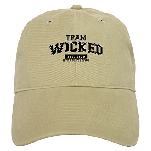 CafePress - Team Wicked - Witch of The West - Baseball Cap with Adjustable Closure, Unique Printed Baseball Hat Khaki
