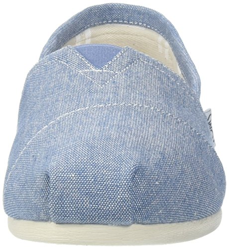 color Blue Zapatos negro Toms mujer Chambray 38 5 talla Sole Rope 1019B09R para 46qTxFPYx