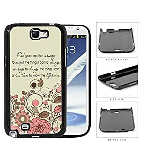 God Serenity Courage Quote With Pink Floral Pattern Hard Plastic Snap On Cell Phone Case Samsung Galaxy Note 2 II N7100
