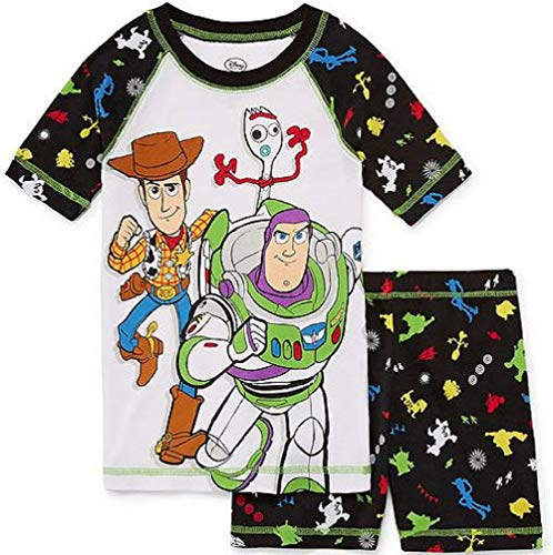 Toy Story Boy's Woody, Buzz Lightyear and Forky Cotton Pajama Shorts Set (5) -