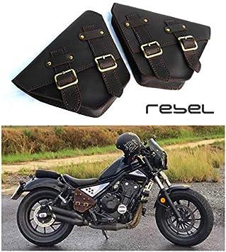 Honda Rebel 500 300 2017 18 Front Saddle Bag Genuine Leather Cover Side Frame