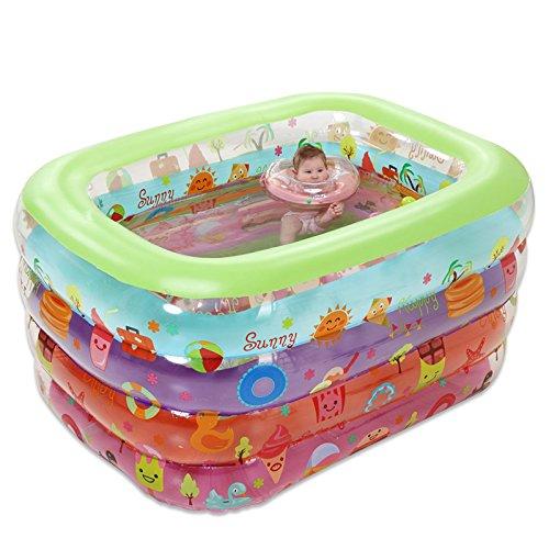 LybCvad Piscina hinchable cuadrada extra grande para niños ...
