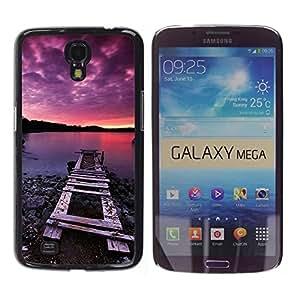 TopCaseStore / la caja del caucho duro de la cubierta de protección de la piel - Nature Pink Dock Sea - Samsung Galaxy Mega 6.3 I9200 SGH-i527