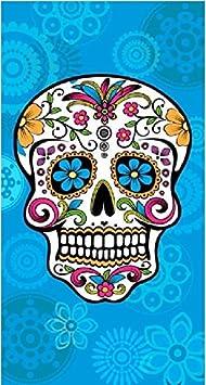 Azul, 95 x 175 cm 3 Colores y 2 tama/ños The Best Fashion House Toalla de Playa dise/ño Calavera Mexicana 100/% Algodon