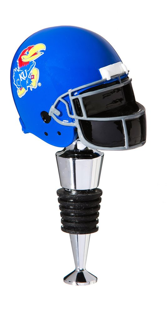 University of Kansas Football Helmet Bottle Stopper