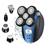 Electric Shaver Razor for Men Bald Head Shaver 5 in 1 Grooming Kit Rechargeable Beard Trimmer with Pop-up Trimmer