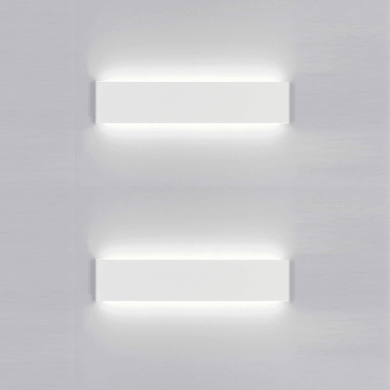 Yafido 2x Aplique Pared Interior LED 30CM Lámpara de pared 12W Blanco Frío para Salon Dormitorio Sala Pasillo Escalera AC 220V: Amazon.es: Iluminación