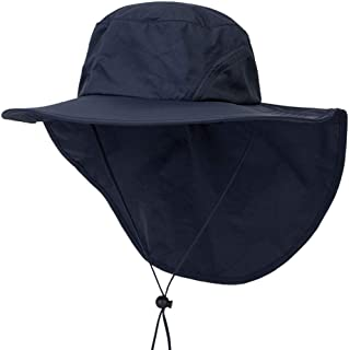 Botrong Outdoor Fishing Hat with Neck Flap Cover Wide Brim Sun Protection Cap for Men Women Hunting, Hiking, Camping, Boating