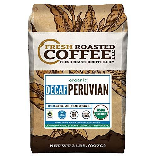 Peruvian Decaf Organic Fair Trade Coffee - SMBC, Whole Bean, Water Processed Decaf Coffee, Fresh Roasted Coffee LLC. (2 lb.) (Best Peruvian Coffee Brands)