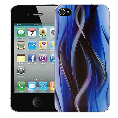 Mobile Case Mate iPhone 5c Silicone Coque couverture case cover Pare-chocs + STYLET - Blue Twisted pattern (SILICON)