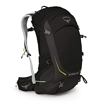 Osprey Stratos 34 Mens Ventilated Hiking Pack - Black ...