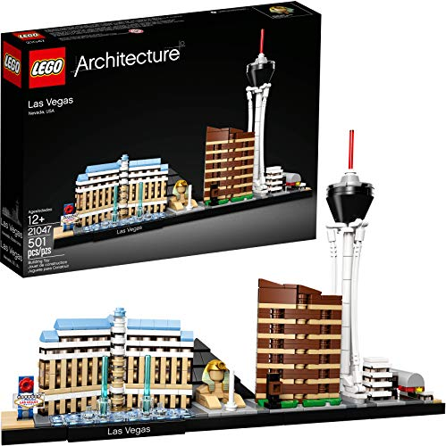 LEGO Architecture Skyline Collection Las Vegas Building Kit 21047 (501  Pieces) (Vegas World Las Mart)