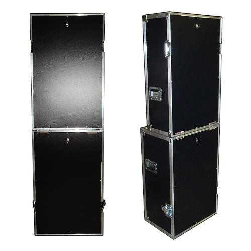 Photo Booth 'Fold Up' ATA Case w/Wheels & 2 Rear Trap Doors - 'Do It Yourself' Cutouts - - It Yourself Photobooth Do