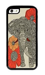 Apple Iphone 5C Case,WENJORS Awesome The Elephant Soft Case Protective Shell Cell Phone Cover For Apple Iphone 5C - TPU Black