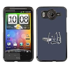 // PHONE CASE GIFT // Duro Estuche protector PC Cáscara Plástico Carcasa Funda Hard Protective Case for HTC G10 / Matchstick Funeral - Funny /