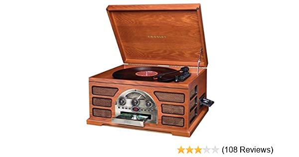694ace576537 Amazon.com  Crosley Stereo Turntable Sound System Cr66-pa Rochester  Home  Audio   Theater