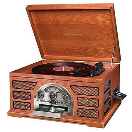 Crosley Tocadiscos estéreo sistema de sonido cr66-pa ...